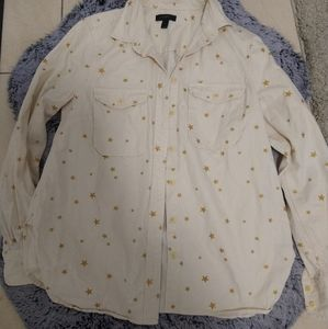 Off white denim like think material button ups